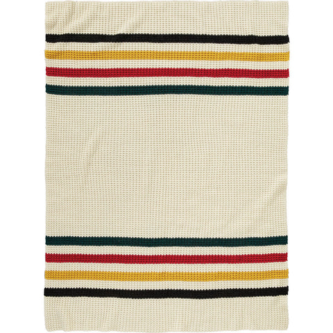 Pendleton Glaciar Park Knit Throw Blanket | White- XF251 50717