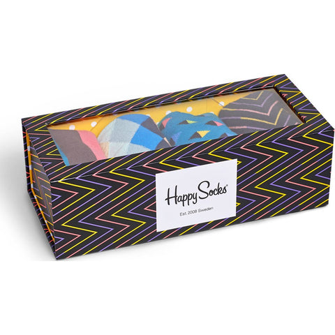 Happy Socks Ziggy Socks 4 Pack Box Set | Multi-Color Combo