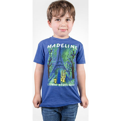 Out of Print Madeline Kid's T-Shirt | Blue Y-1028