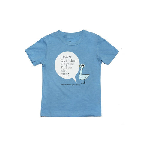 Out of Print DonÕt Let the Pigeon Kid's T-Shirt | Blue Size 4 Y-1030