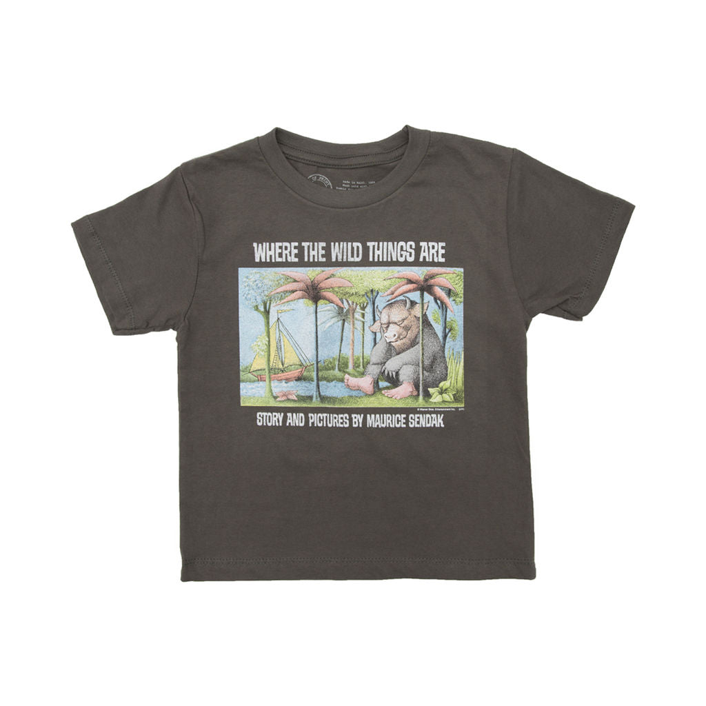 Out Of Print Where The Wild Things Are Kids T Shirt Gray Sportique