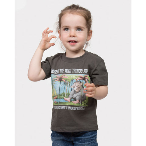 Out of Print Where the Wild Things Are Kid's T-Shirt | Gray 2 YR Y-2025