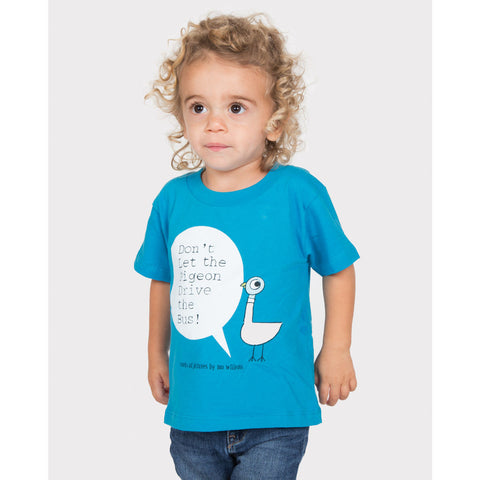 Out of Print Don't Let the Pigeon Drive the Bus! Kid's T-Shirt | Blue 4/5 YR Y-2030
