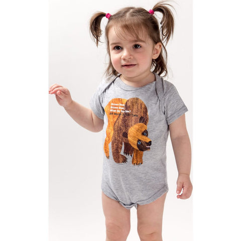 Out of Print Brown Bear, Brown Bear, What Do You See? Baby Onesie | Y-5014 6 Months