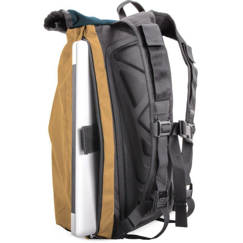 Chrome Yalta Rolltop Backpack | Navy/Tan