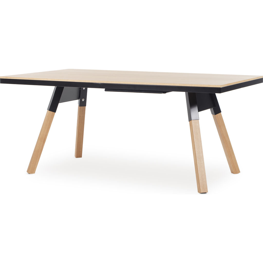 RS Barcelona You & Me Small Wooden Top Ping Pong Table | Oak/Black