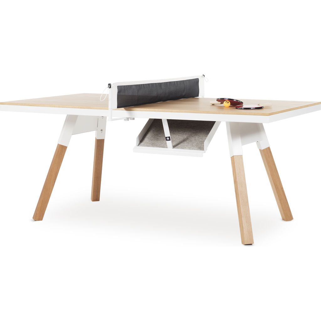 ... RS Barcelona You U0026 Me Small Wooden Top Ping Pong Table | Oak/White ...