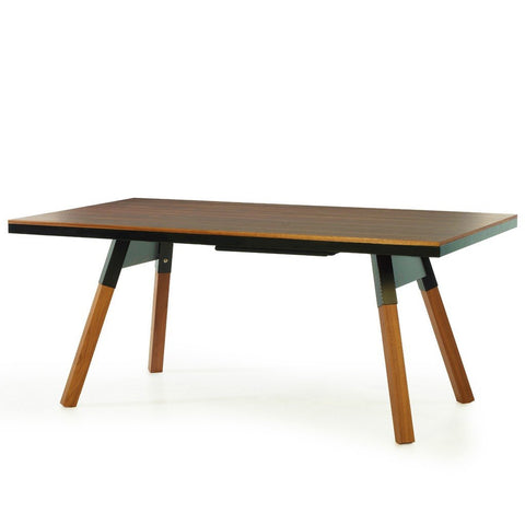 RS Barcelona You & Me 180 Walnut Ping Pong Table | Black