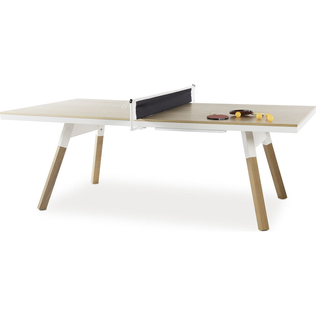 ... RS Barcelona You U0026 Me Medium Wooden Top Ping Pong Table | Oak/White ...