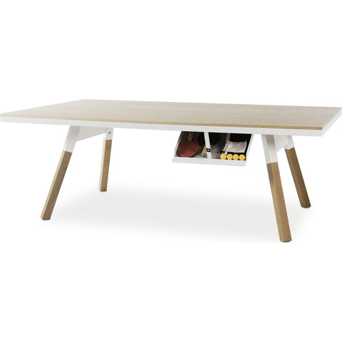 RS Barcelona You & Me Medium Wooden Top Ping Pong Table | Oak/White