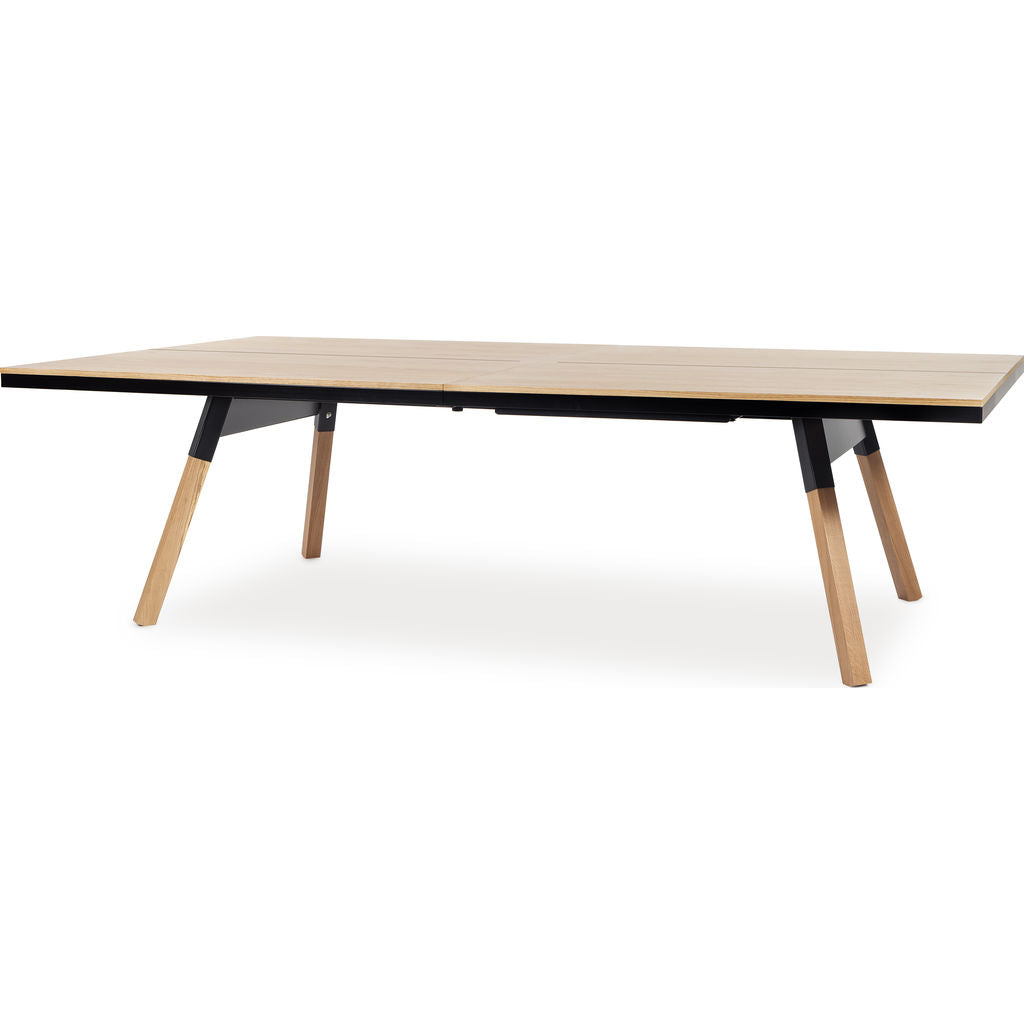 RS Barcelona You & Me Standard Wooden Top Ping Pong Table | Oak/Black