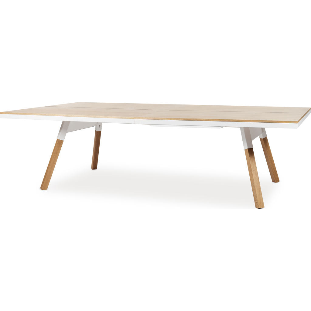 RS Barcelona You U0026 Me Standard Wooden Top Ping Pong Table | Oak/White ...