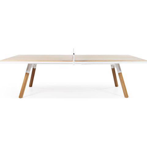 RS Barcelona You & Me Standard Wooden Top Ping Pong Table | Oak/White