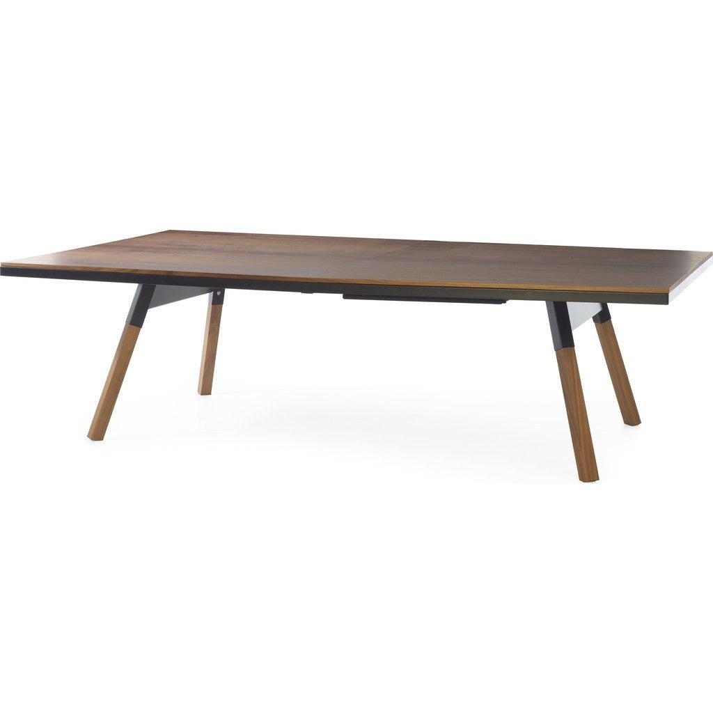 ... RS Barcelona You U0026 Me Standard Walnut Ping Pong Table | Black ...