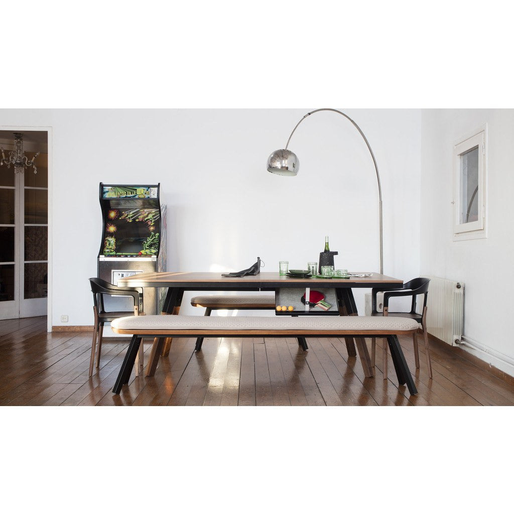 RS Barcelona You & Me Standard Walnut Ping Pong Table | Black ...