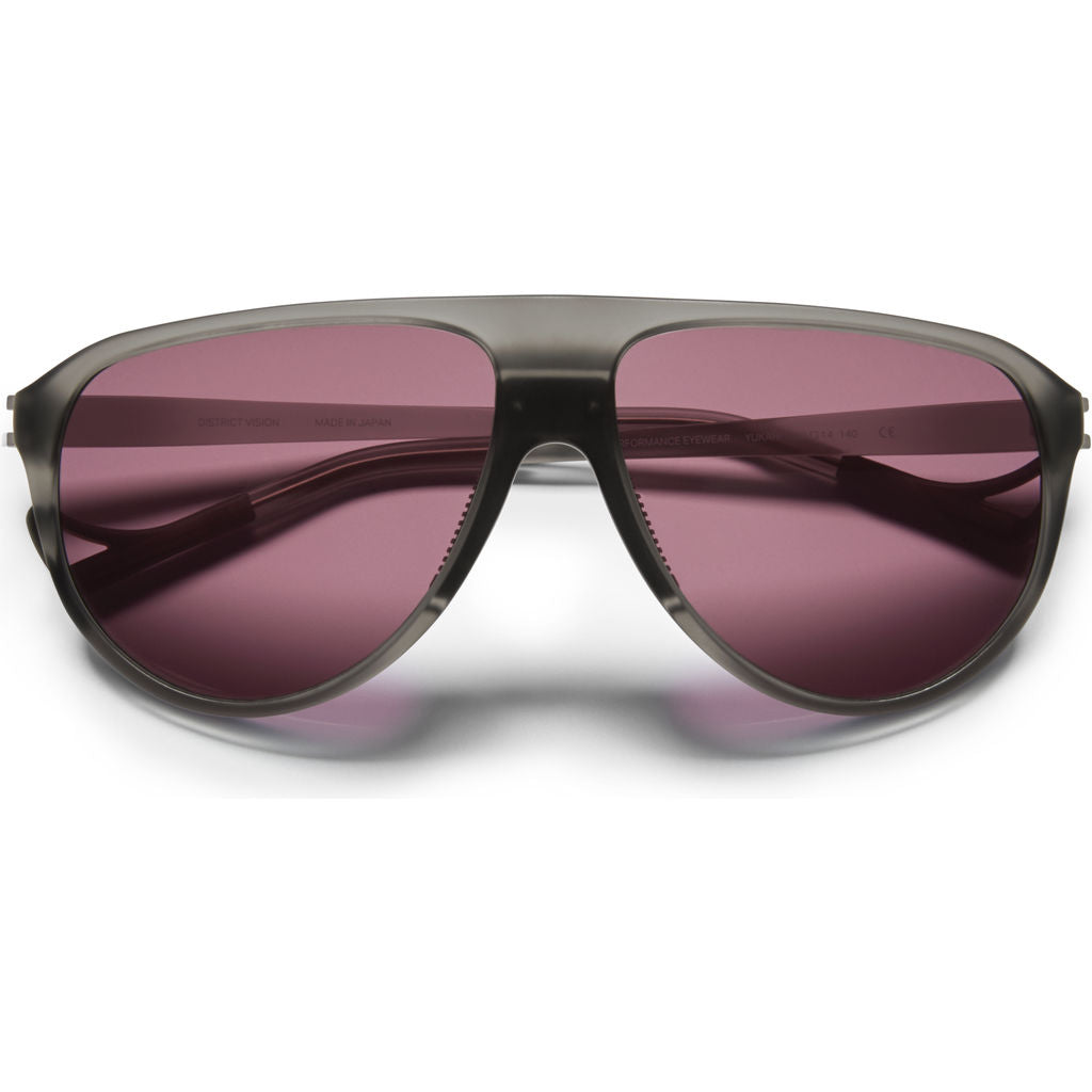 District Vision Yukari Gray Sunglasses | District Black Rose