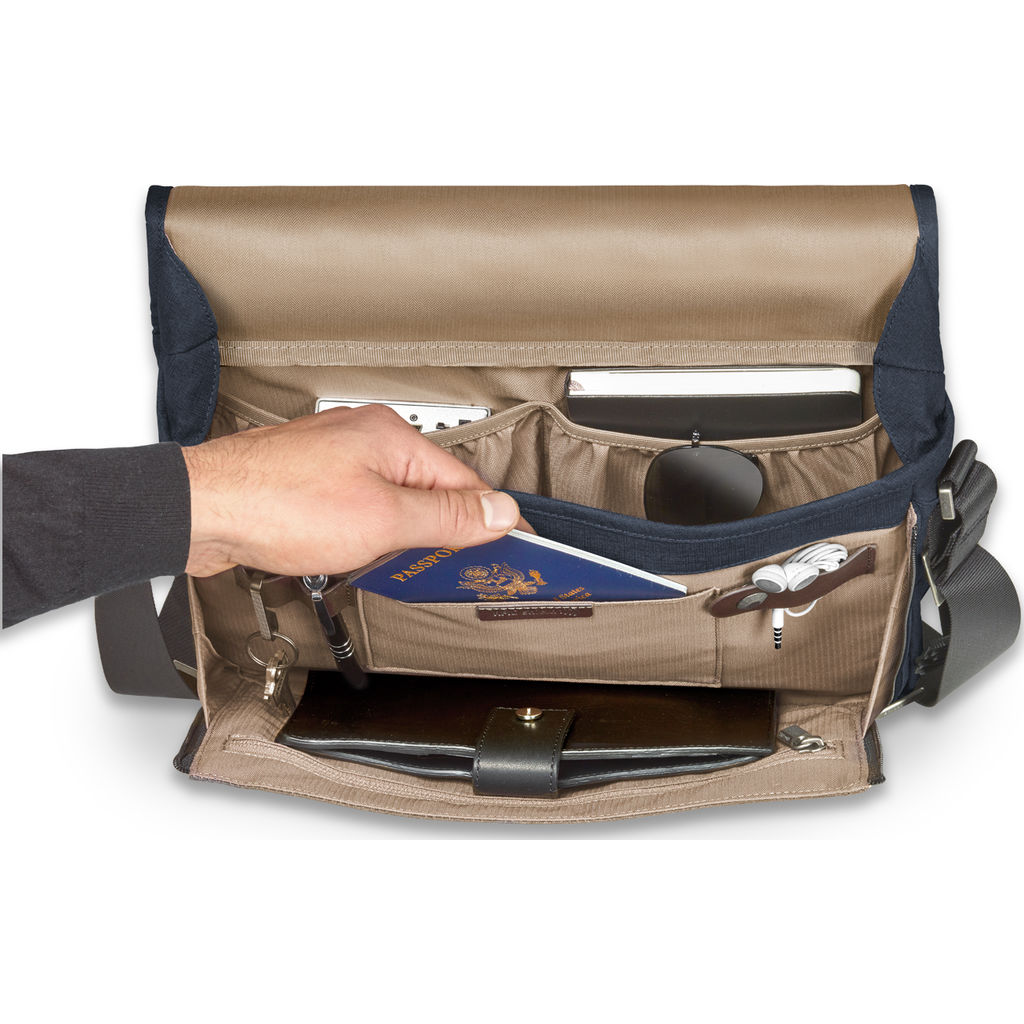 Briggs & Riley Micro Messenger Bag | Navy- Z105