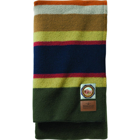 Pendleton National Park Twin Bed Blanket | Olive ZA130