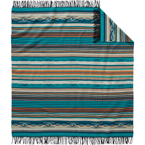 Pendleton Chimayo Throw Blanket | Turquoise- ZF646 53396