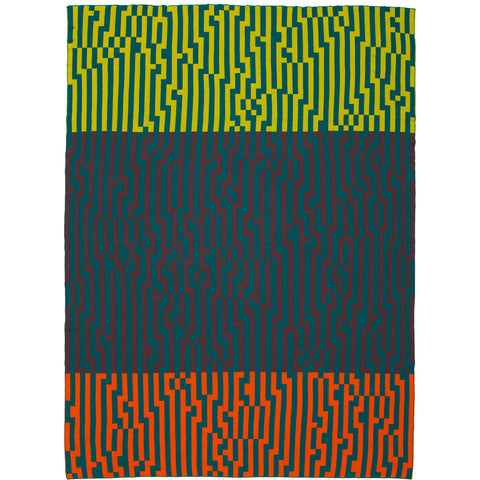 Zuzunaga Zoom Out 2 Throw Blanket | MerIno Wool