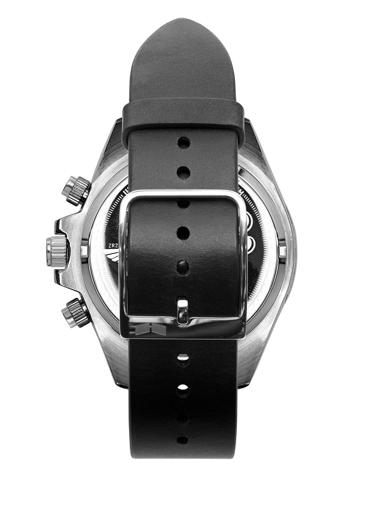 Vestal ZR-2 Italian Leather Watch | Black/Silver/Marine-Silver