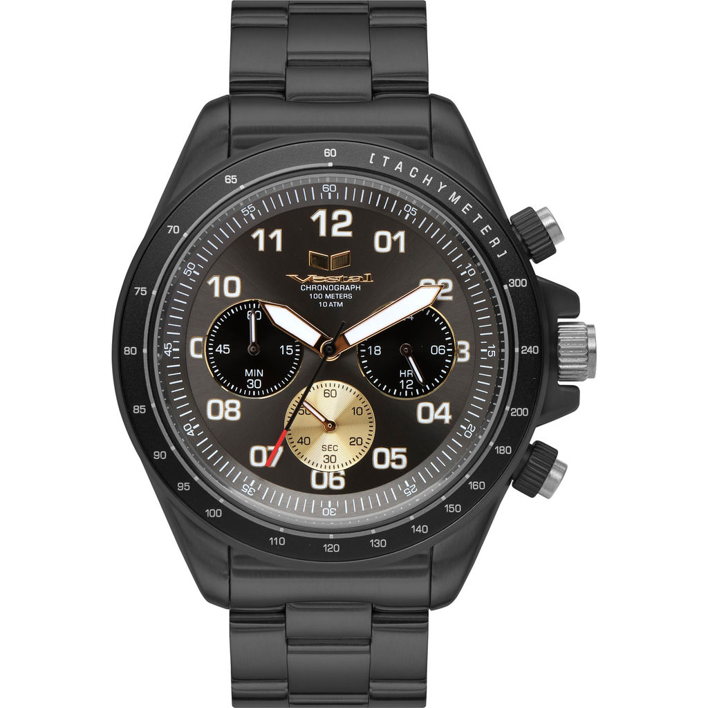 Vestal ZR-2 3-Link ZR Watch | Gun-Gold