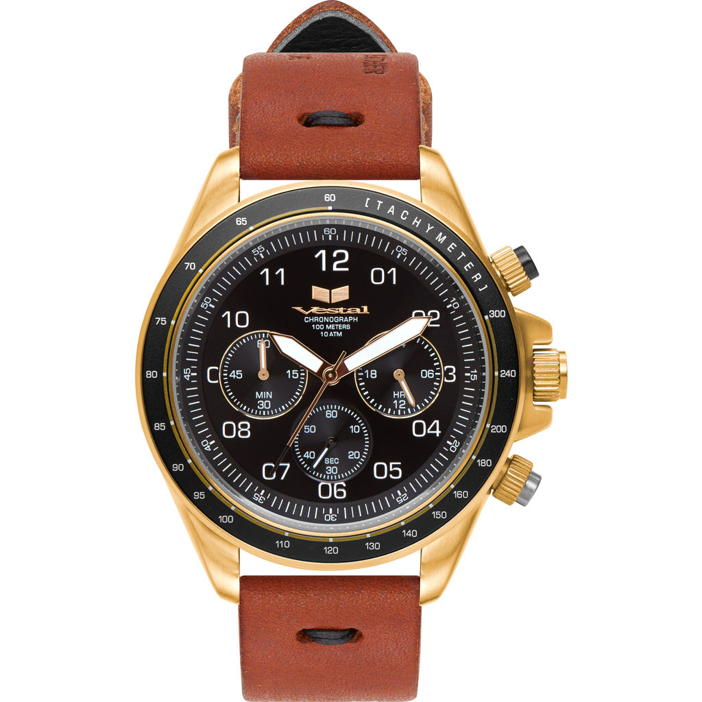 Vestal ZR-2 Makers Watch | Persimmon-Black/Gold/Black