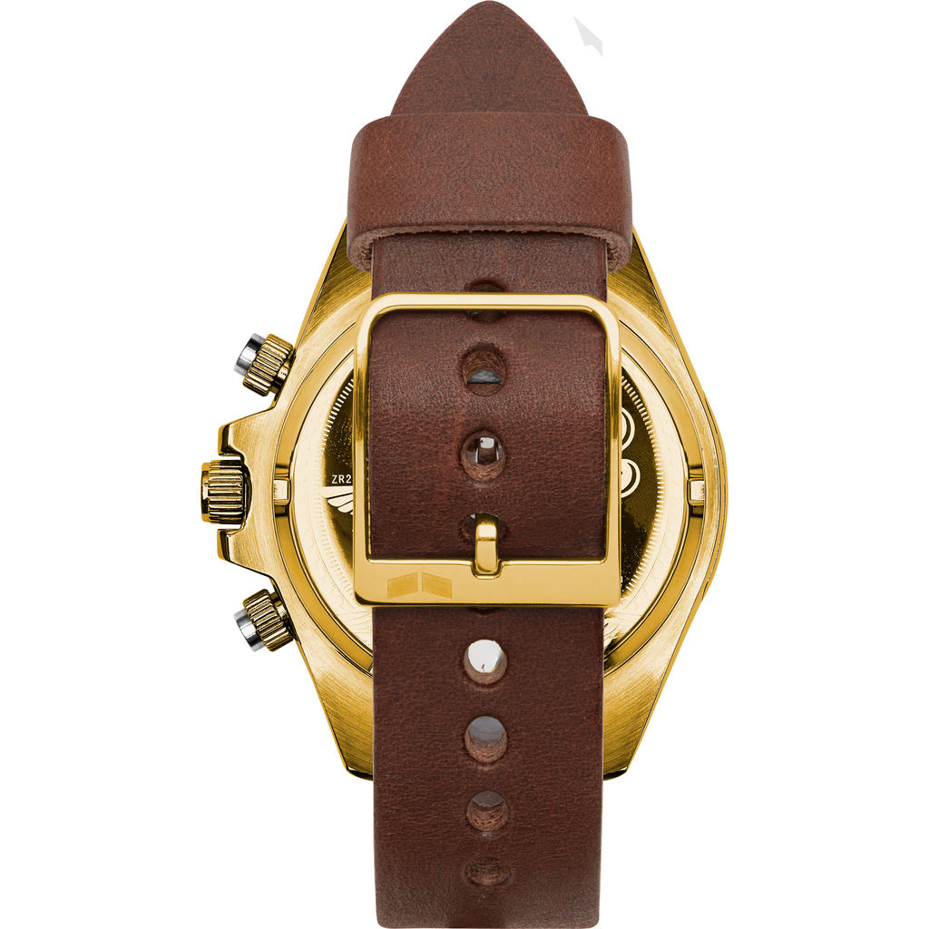 Vestal ZR-2 Makers Watch | Chocolate/Gold/Orange