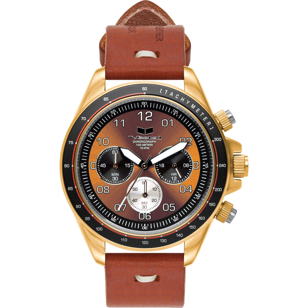 Vestal ZR-2 Makers Watch | Persimmon-Grey/Gold/Orange