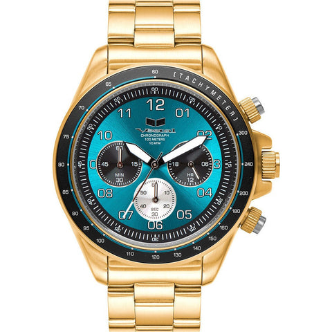 Vestal Zr-2 Watch | Gold/Teal/Brushed ZR2023