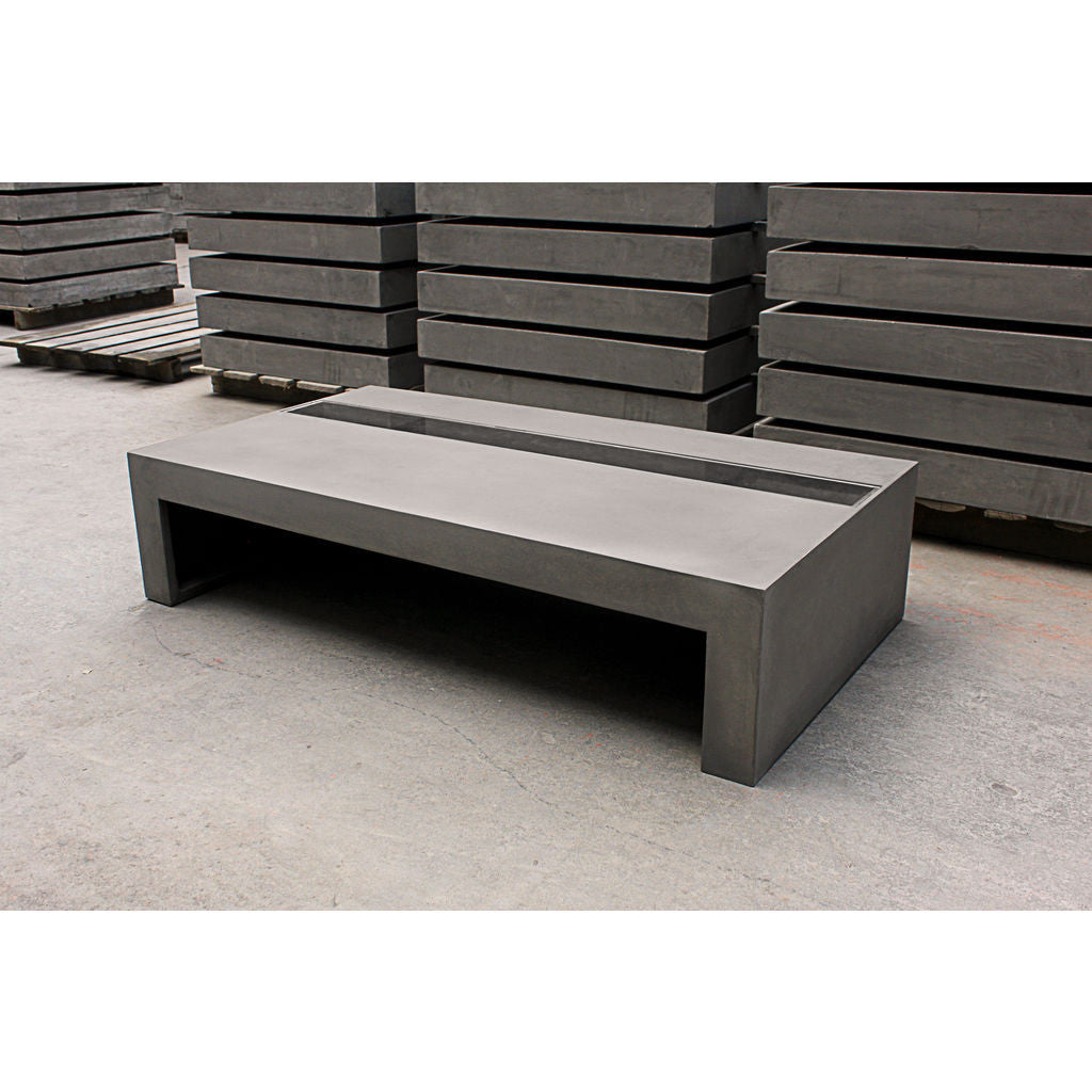 lyon beton zen rectangular coffee table concrete sportique. Black Bedroom Furniture Sets. Home Design Ideas
