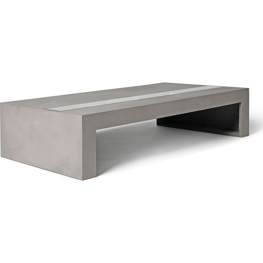 Lyon Beton Zen Rectangular Coffee Table Concrete Sportique - Rectangular concrete coffee table