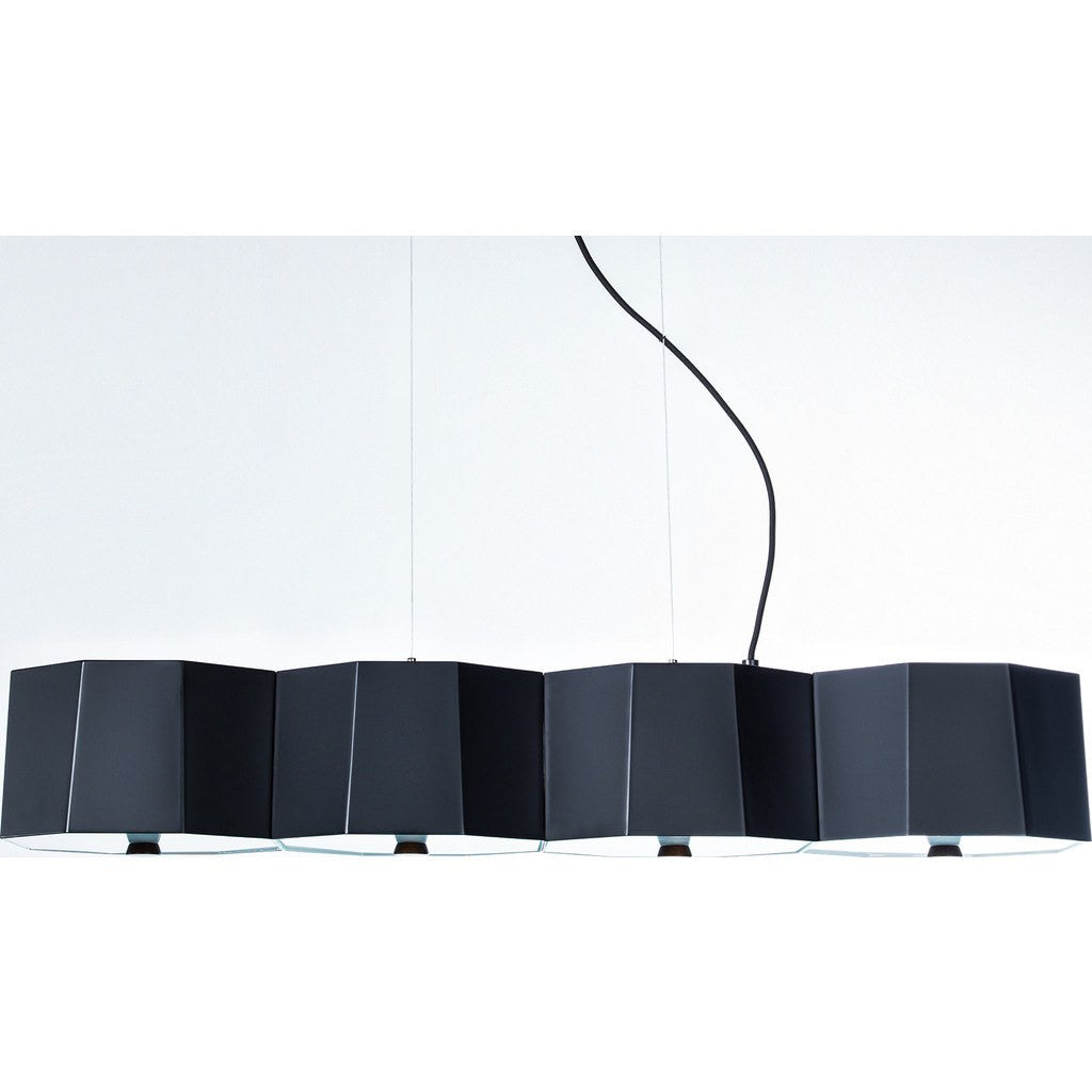 Seed Design Zhe Small Pendant Lamp | Black SQ-2322MPL4-BK