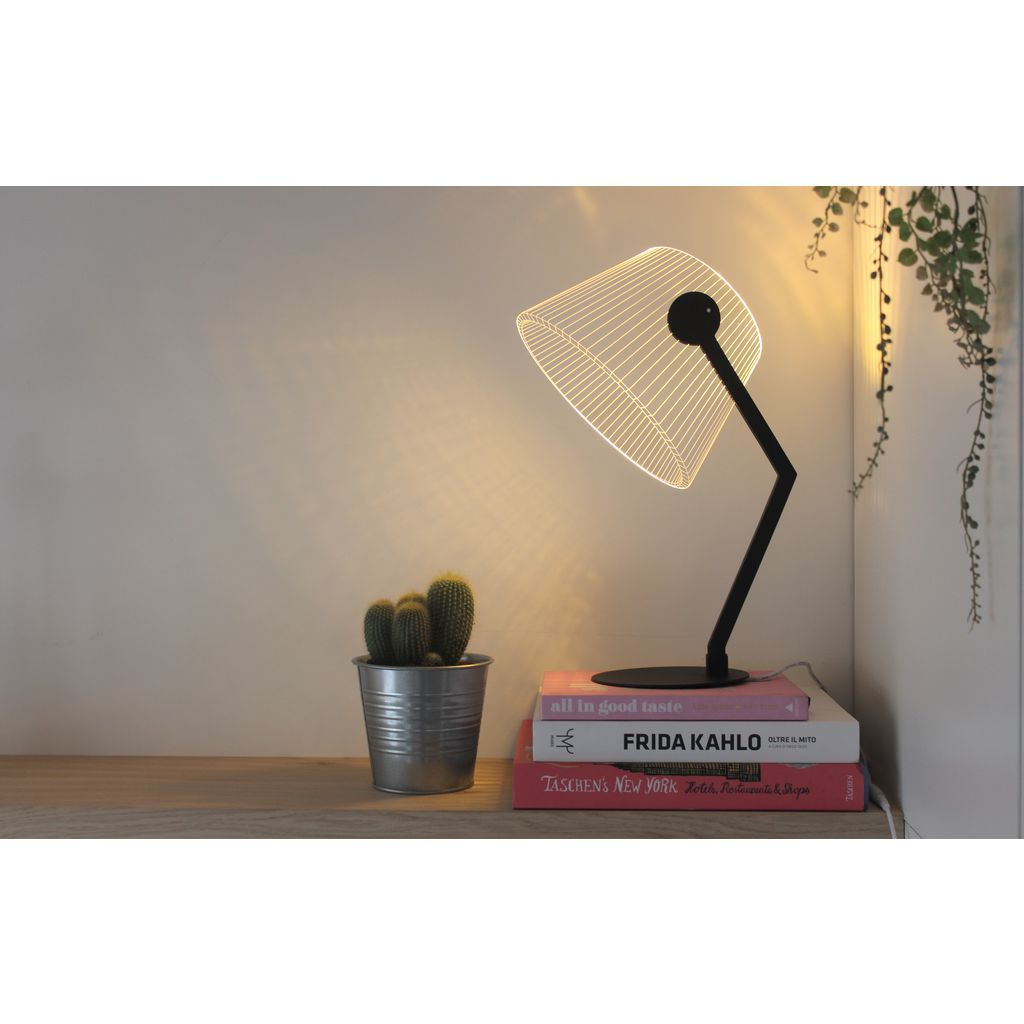 Studio Cheha Ziggi  LED Table Lamp | Iron/Birch Ch-Ziggi-Bk