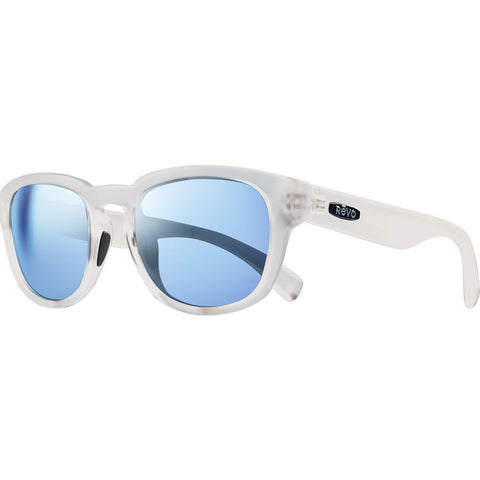 Rēvo Eyewear Zinger Matte Crystal Sunglasses | Blue Water