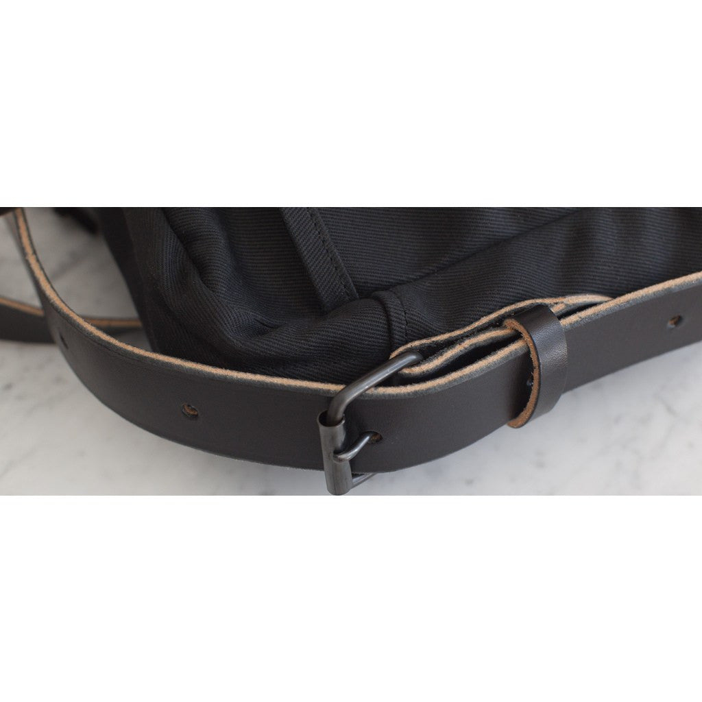 Joshu + Vela Zip Briefcase | Black Twill