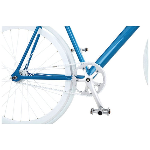 Sole Bicycles Zissou Fixed Single Speed Bike | Aqua Blue/White Rims Sole 051-49