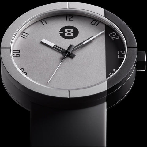 Minus-8 Zone Gray/Black Watch | Silicone