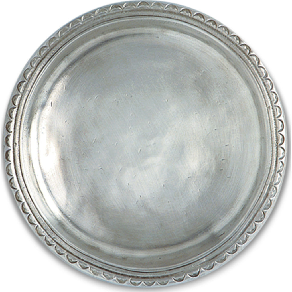Match Scallop Rim Bottle Coaster | Pewter