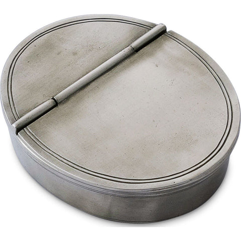 Match Oval Lidded Cigar Ash Tray | Pewter