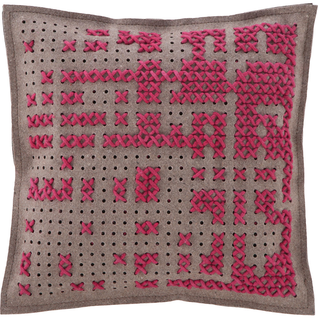 Gan Canevas Abstract Pillow | Dark Pink/Dark Gray 02CN21467CL77