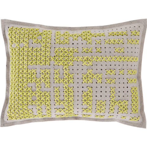 Gan Canevas Abstract Pillow | Yellow/Light Gray 02CN21468CL82