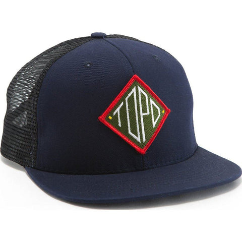 Topo Designs Diamond Snapback Hat | Navy/Black TDDSBH015NV/BK