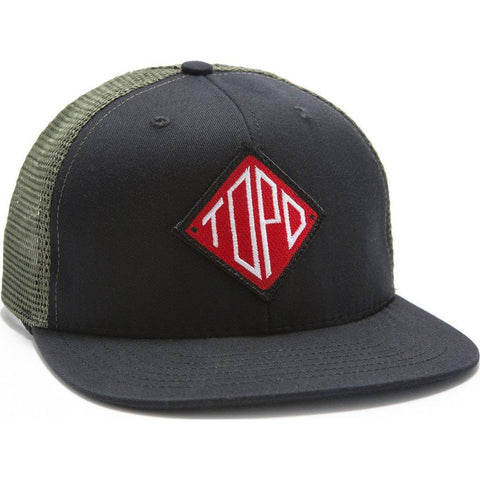 Topo Designs Diamond Snapback Hat | Black/Olive TDDSBH015BK/OL