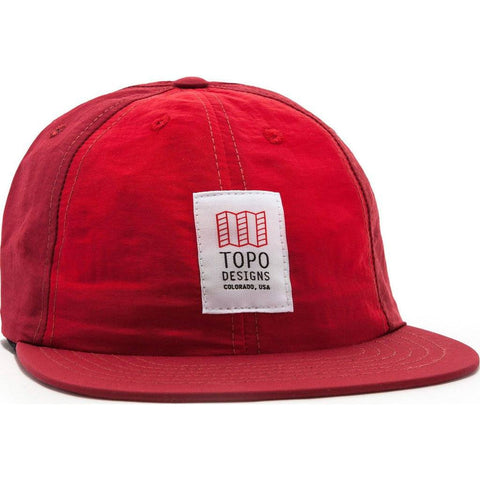 Topo Designs Nylon Ball Cap | Red/Burgundy TDNBC015RD/BG