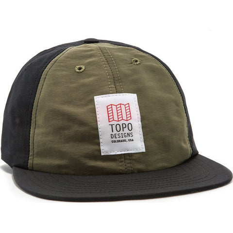 Topo Designs Nylon Ball Cap | Olive/Black TDNBC015OL/BK