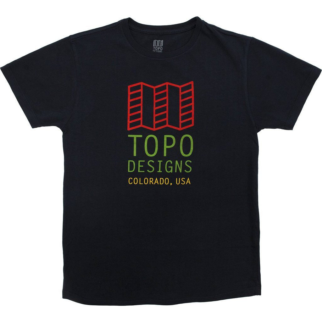 Topo Designs Original Logo Tee Shirt | Navy