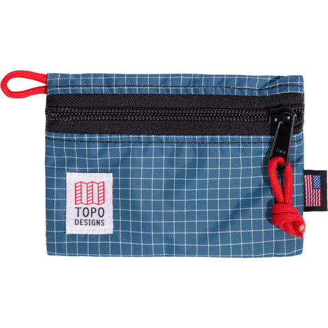 Topo Designs Accessory Bag For Travel & Hiking | Blue/ White Ripstop