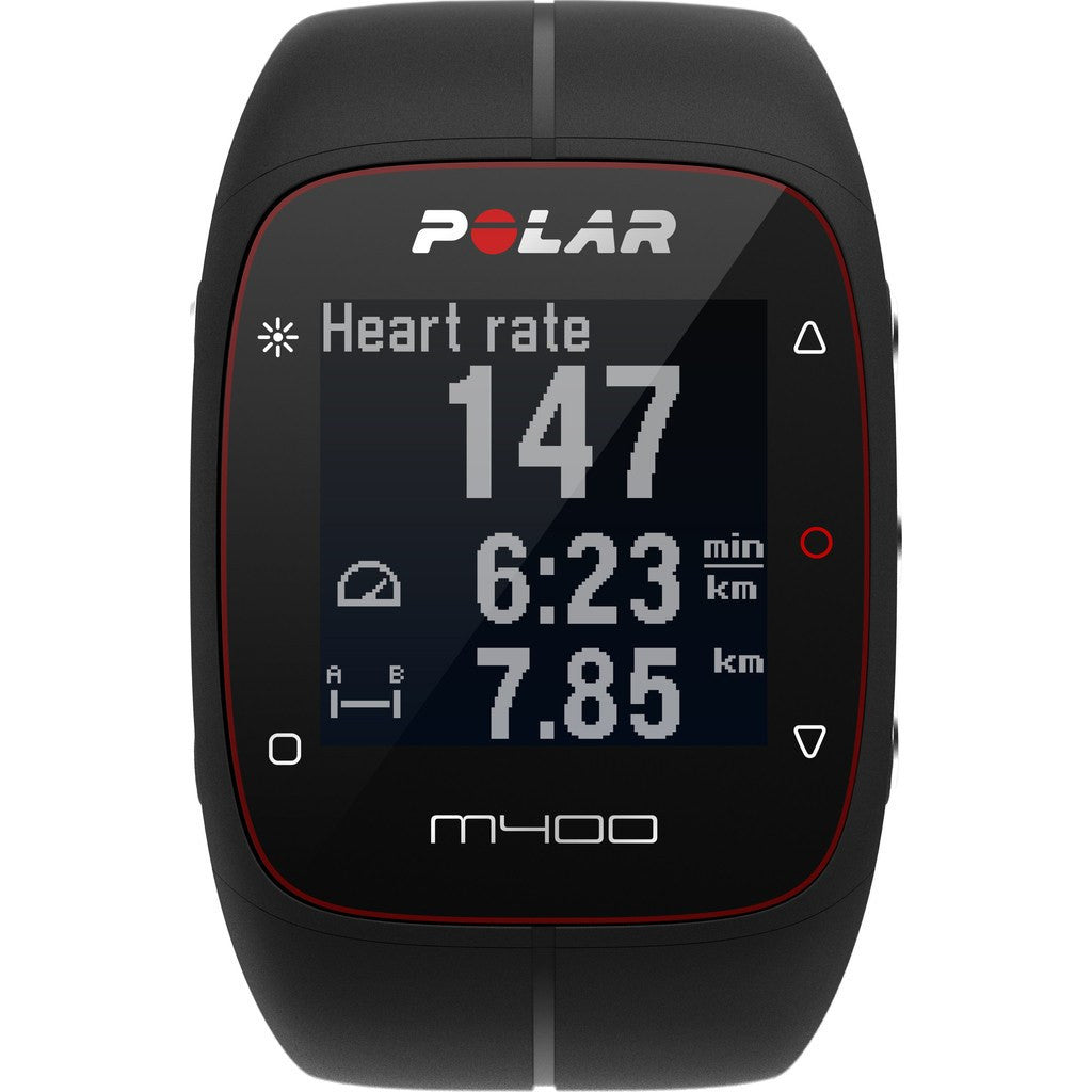 Polar M400 GPS Activity Tracker Watch HR Bundle | Black
