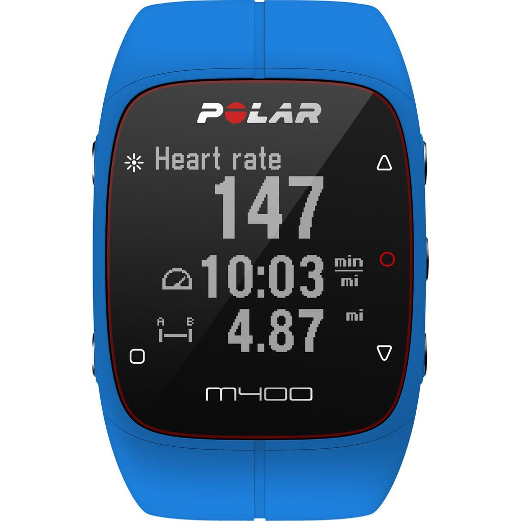 Polar M400 GPS Activity Tracker Watch HR Bundle | Blue